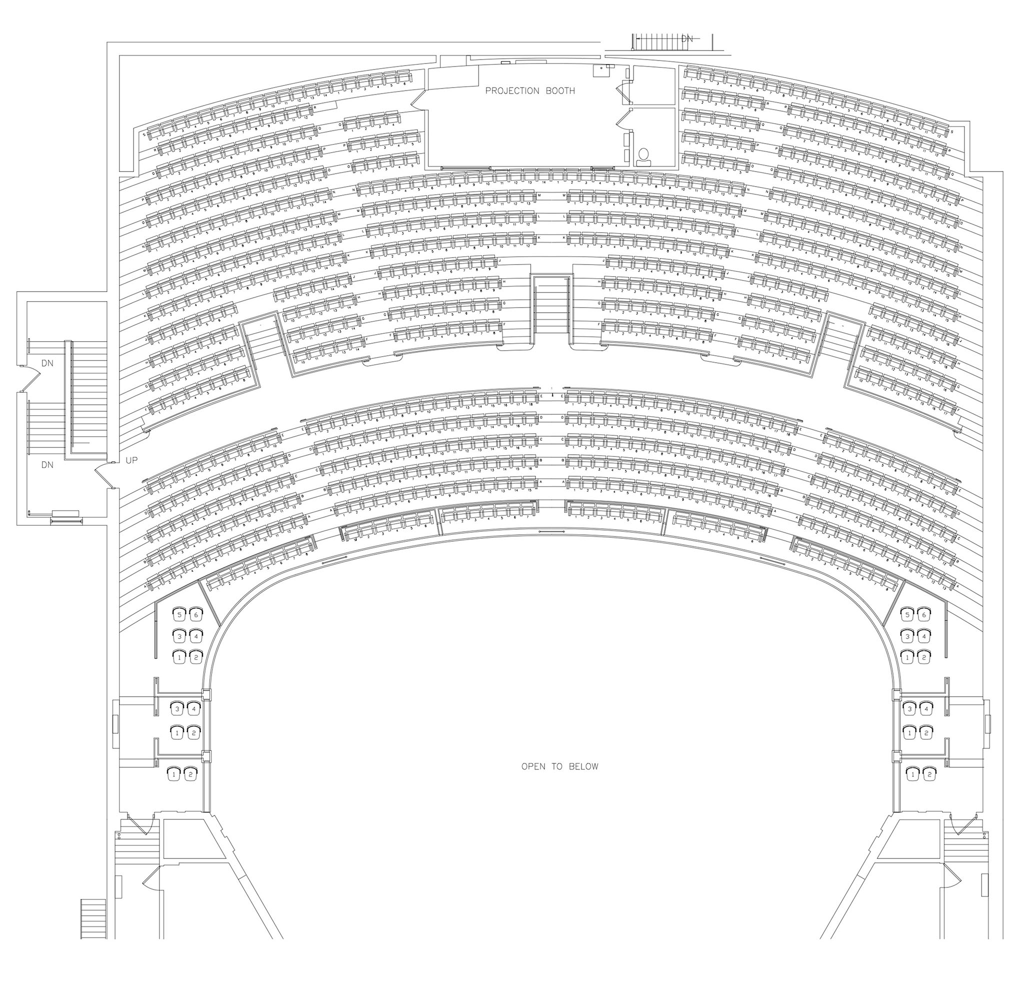 ORCHESTRA PIT SEATING 40 MAIN FLOOR SEATING 1360 BALCONY SEATING 915TOTAL CAPACITY 2315